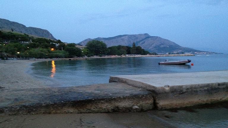 Kroatien, vatten, berg, pir, strand