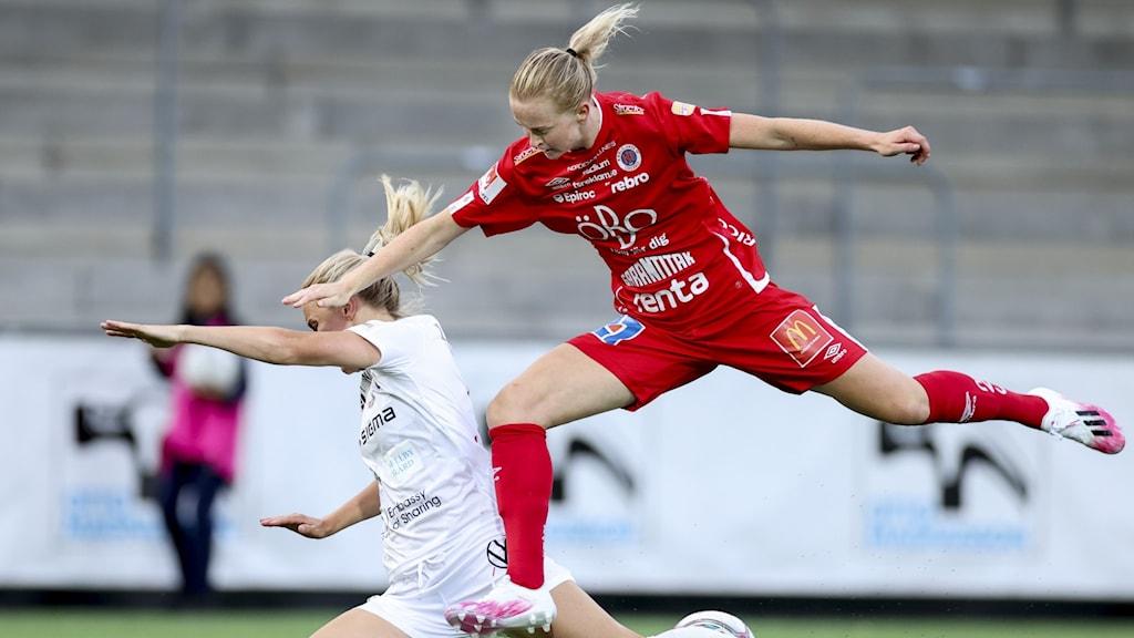 Emma Östlund Kif i kamp med Rosengårdsspelare