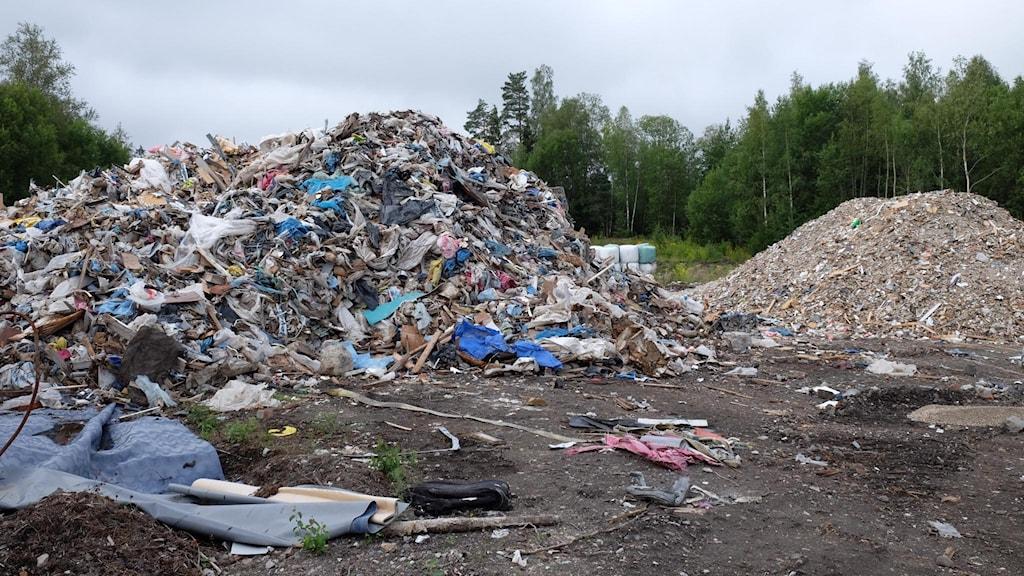 Byggavfall i Röfors