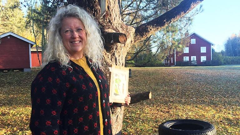 Ann-Sofie Eliason driver friluftsgården Sixtorp utanför Mullhyttan.
