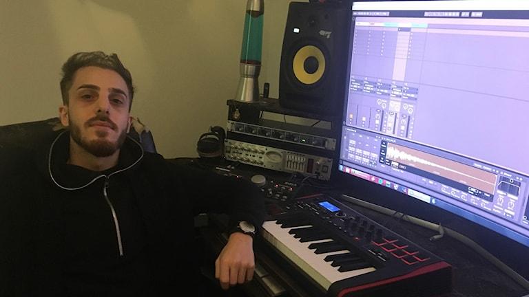 Samuell Alan, musikproducent i Brickebacken