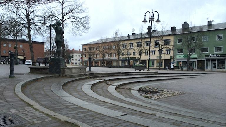 Karlskoga torg Alfred Nobels torg. Foto: Andreas Morén/SVeriges Radio.