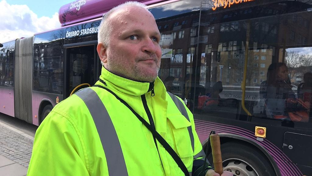 Roger Alexandersson, ombudsman på Synskadades riksförbund i Örebro.