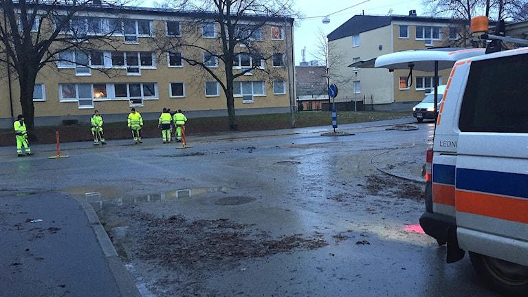 Vattenläcka vid Gustavsgatan i Örebro