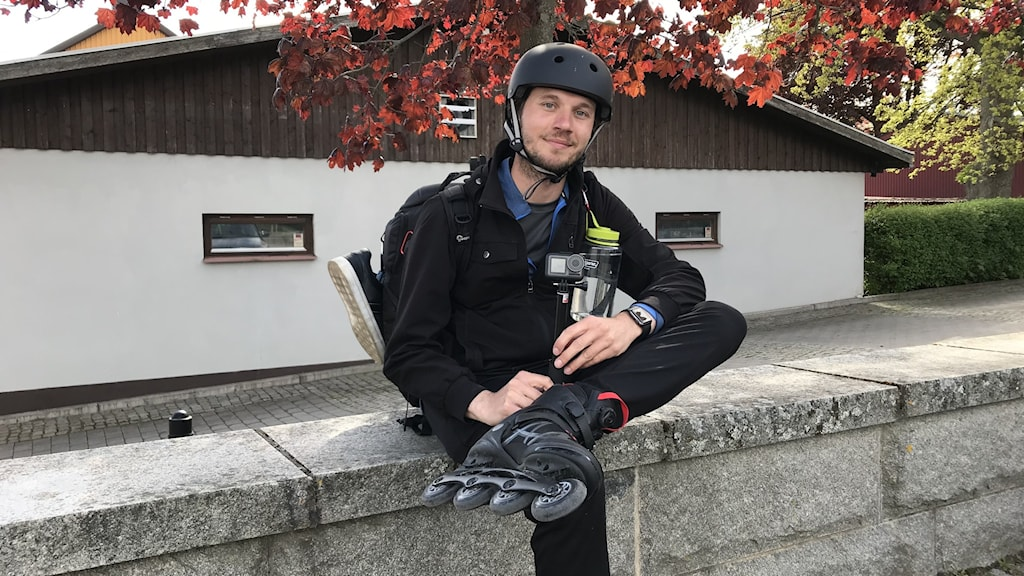 Johan Bodell åker inlines genom Sverige.