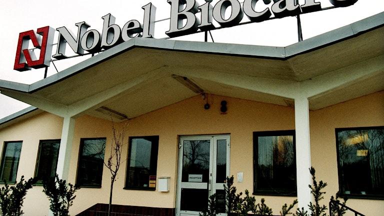 Ingången till Nobel Biocare Karlskoga.