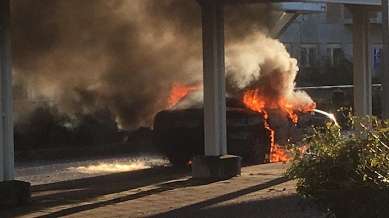 Bilbrand vid USÖ