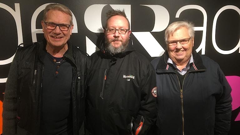 Ledamöterna Per-Åke Gerhardsson och Kaj Salonen samt ordförande Dan-Åke Moberg Indianerna Speedway AB