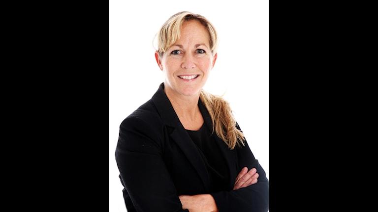 Bilden visar Charlotta Stenhem distriktsidrottschef för Länsidrottsförbundet i Örebro