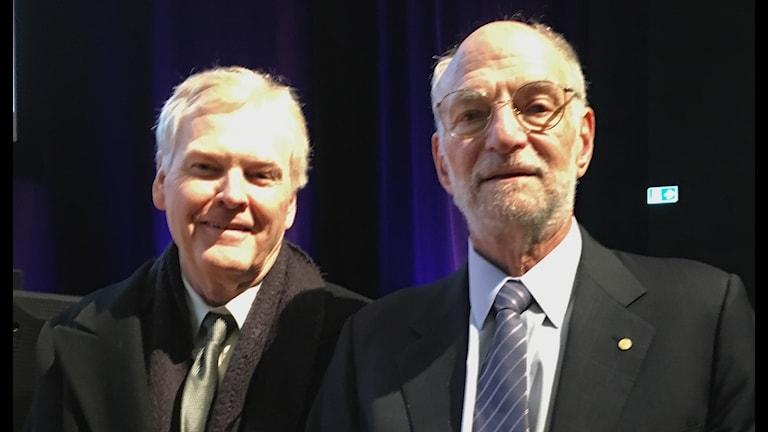 Nobelpristagarna i medicin och fysik Michael Rosbash och Michael W Young