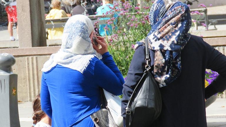kvinnor, slöja, sjal, niqab