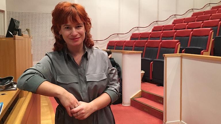 Sandra Dahlén föreläser om användning av hemsidan youmo.se.