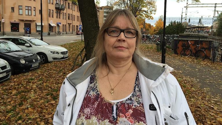 Fia Roxström Karlsson, vice ordförande för Anhöriga hjälper anhöriga.