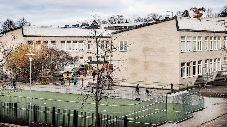 Al-Azhar-skola i västra Stockholm. Foto: Tomas Oneborg/SvD/TT.