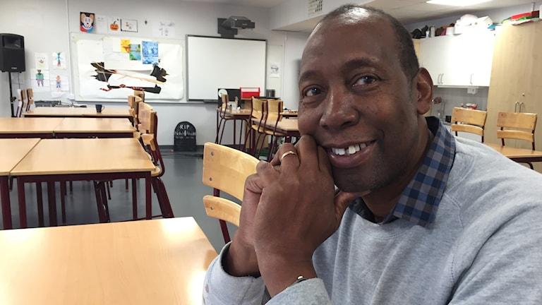 Richard Hampton är bildlärare. Han följde valvakan i USA.