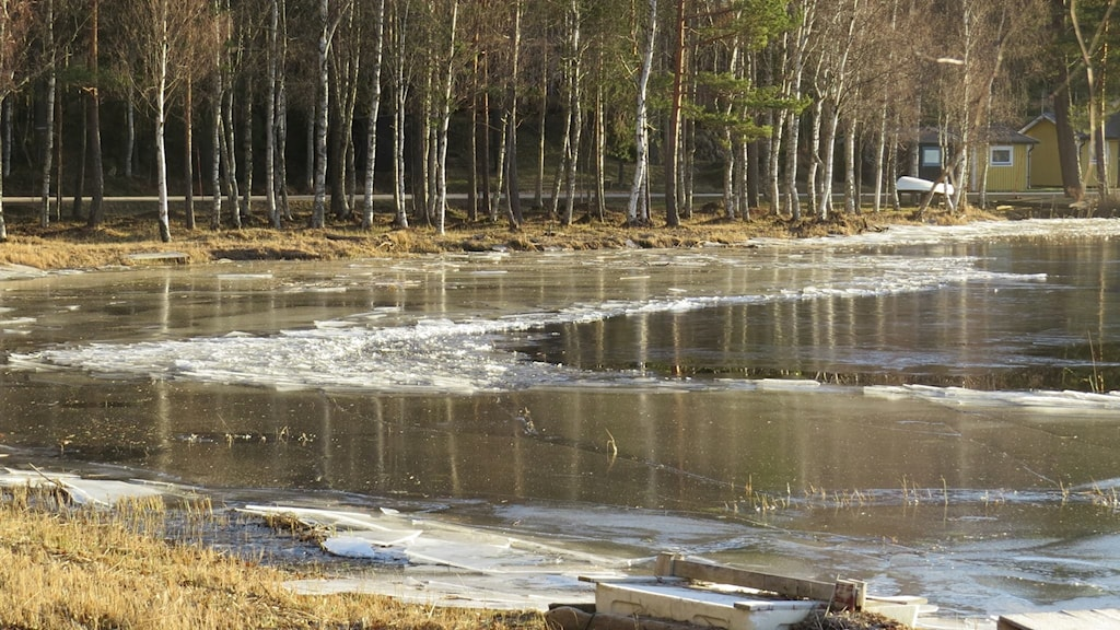 Is på Laxsjöarna.
