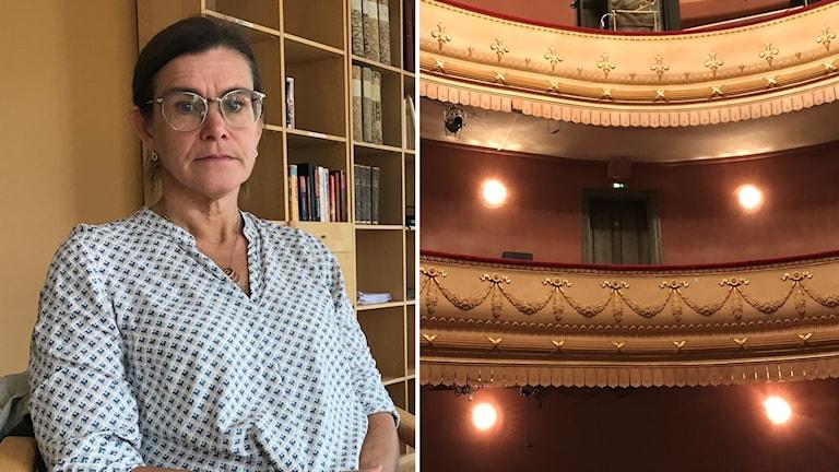 Petra Weckström, vd för Länsteatern är arg över situationen på Länsteatern.