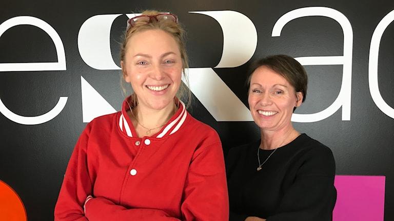 Elisabeth Magnusson och Elin Persson enhetschef respektive produktionsledare