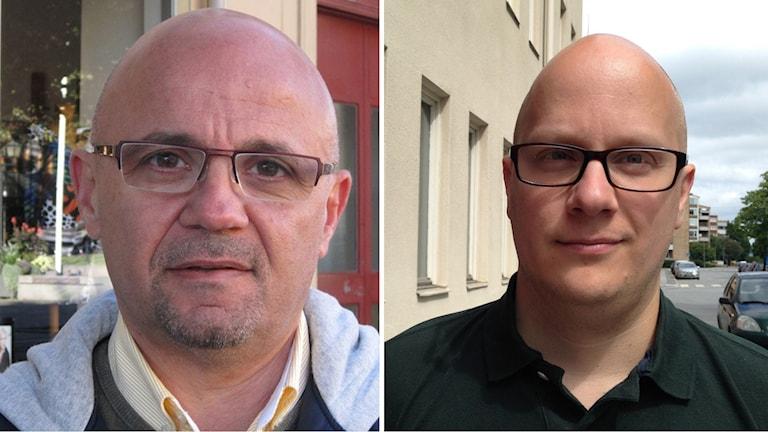 Oppositionsråd Murad Artin (V) och Kenneth Nilsson (S), kommunstyrelsens ordförande  i Örebro.q