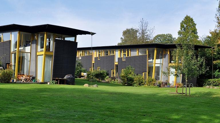 Så här kan bostäderna i Brunnsparken komma att se ut. Foto: Örebroporten.
