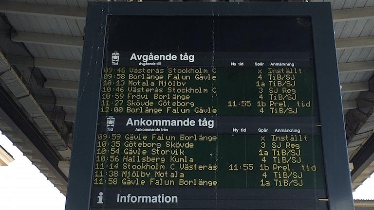Inställda tåg mot Stockholm efter gårdagens attack.