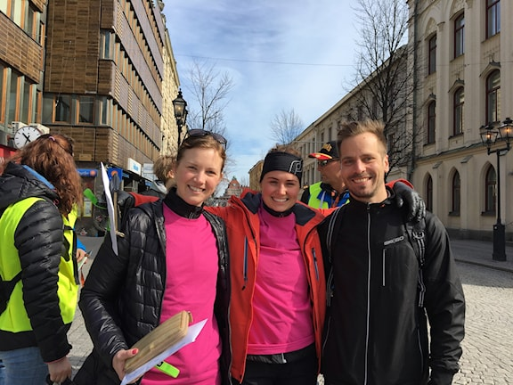 Mirja Valfridsson, Anton Josefsson, och Frida Larsson ska försöka ta sig runt banan.