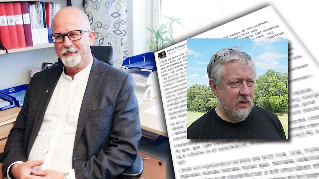 Peter Springare och Leif GW Persson möts i tv i kväll.