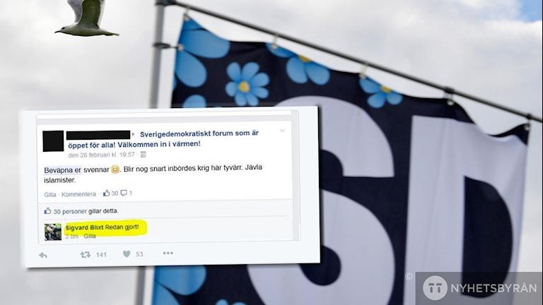 SD facebook inlägg Sigvard Blixt Örebro Sverigedemokraterna