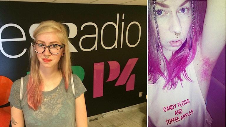 Sara Ingrid Gert färgar armhålehåret rosa ibland