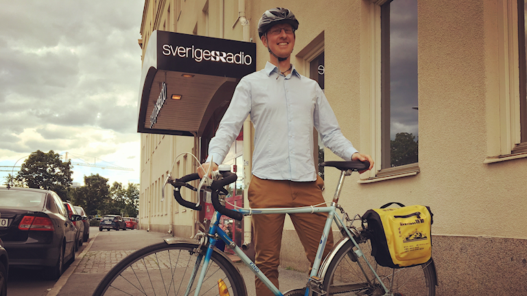 Patric Bennysson från Örebro trampade 267 mil genom Sverige.