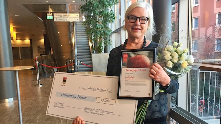 Eva Thurfjell, Rinkaby förskola, fick pedagogiska priset