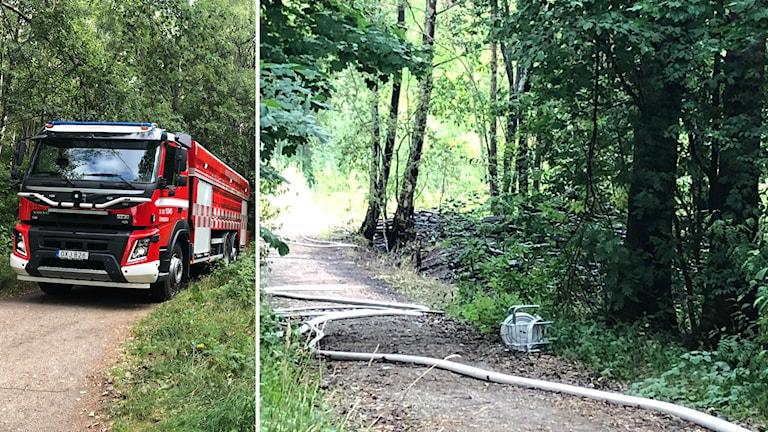 Det är oklart hur branden i Venaskogen i Örebro startade.
