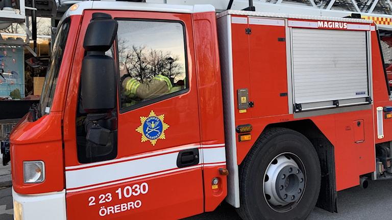 Nerikes Brandkår, brandbil, räddningstjänst, brand
