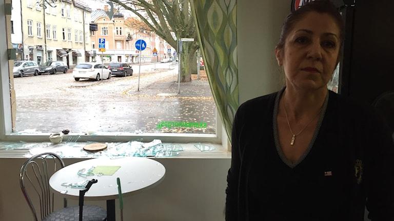 Sazan Mokre äger smörgåsbutiken som fick inbrott på Väster