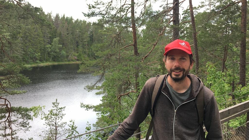 Daniel Gustavsson, biolog på Länsstyrelsen.