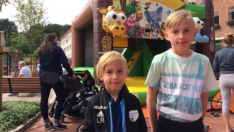 Karl och Lukas Rahnster.