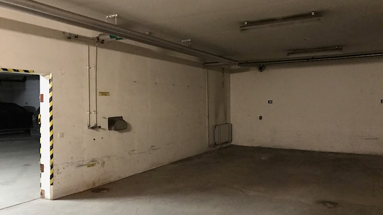 Skyddsrum under rådhuset.