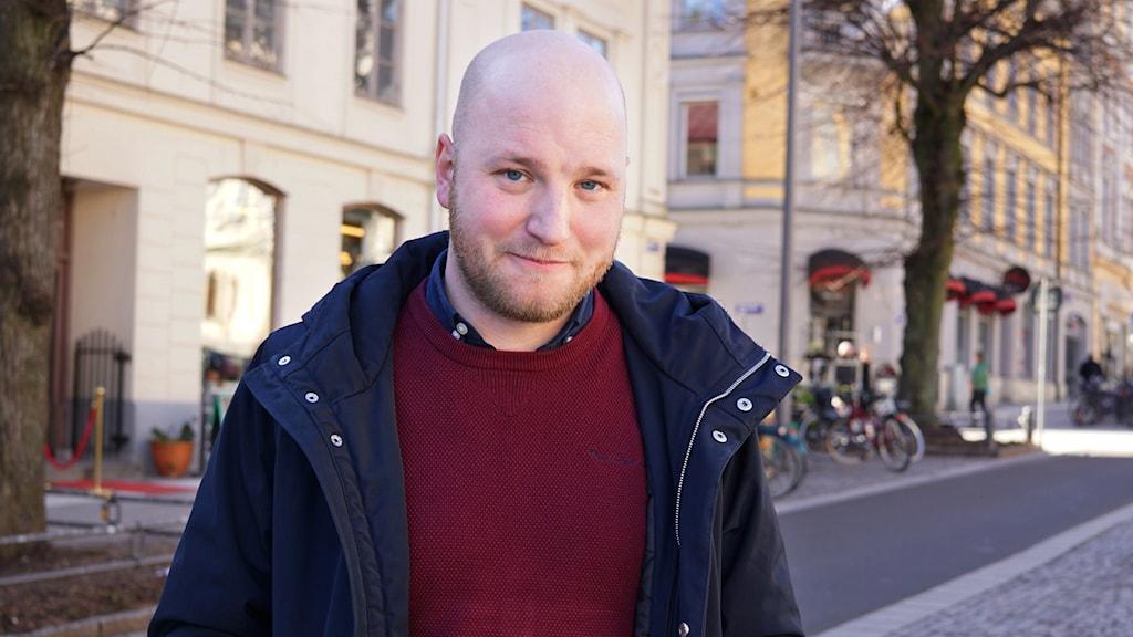 Bild på KIF Örebros ordförande Fredrik Stengarn.