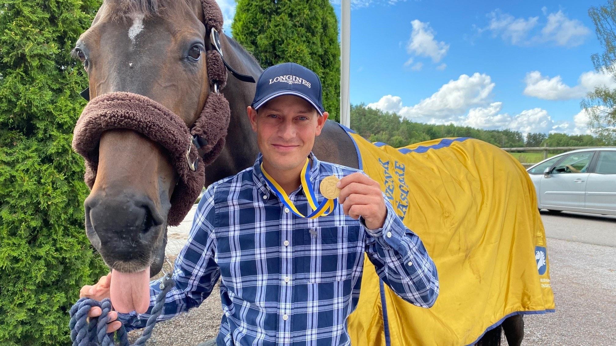 SM-guld i hoppning för Viktor Melin och hästen Atina