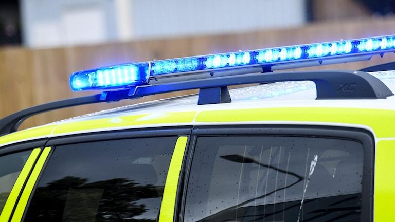 Taket på polisbil