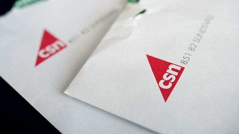 Kuvert från CSN.