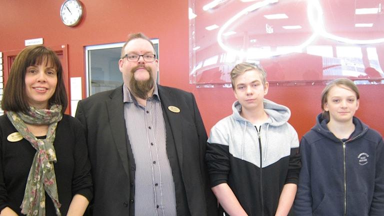 Siv Brangstad, Rasmus Rigenius, Kristofer Romås och Oscar Carlsten.