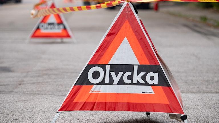 Bilolycka utanför Åtvidaberg.
