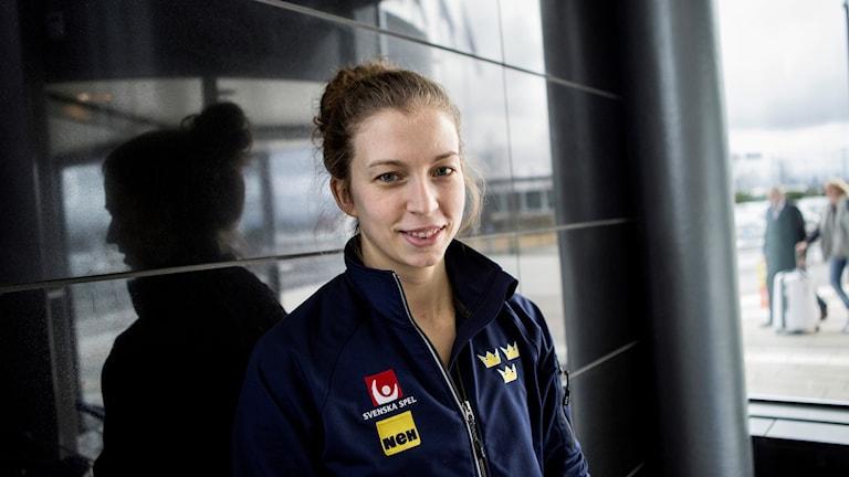 Emilia Ramboldt i Damkronorna i VM 2016. Foto: Christine Olsson/TT