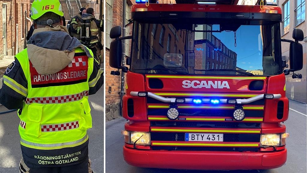 Räddningstjänsten larmades till Söderköping då en person satt fast i en gunga. Personen hade fastnat så illa att räddningstjänsten fick klippa sönder gungan.