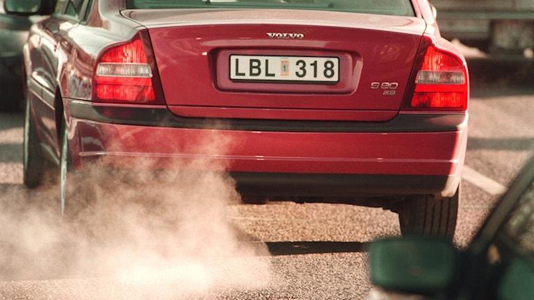 Avgaser från personbil-