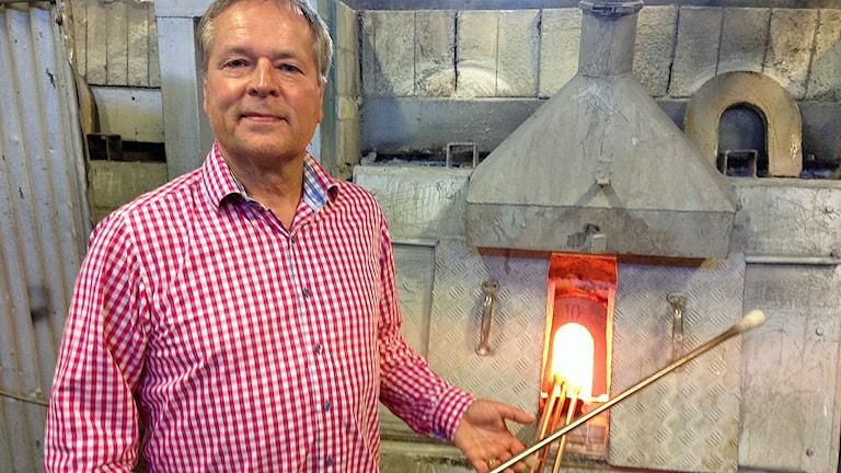 Ulf Rosén, vd Reijmyre glasbruk.
