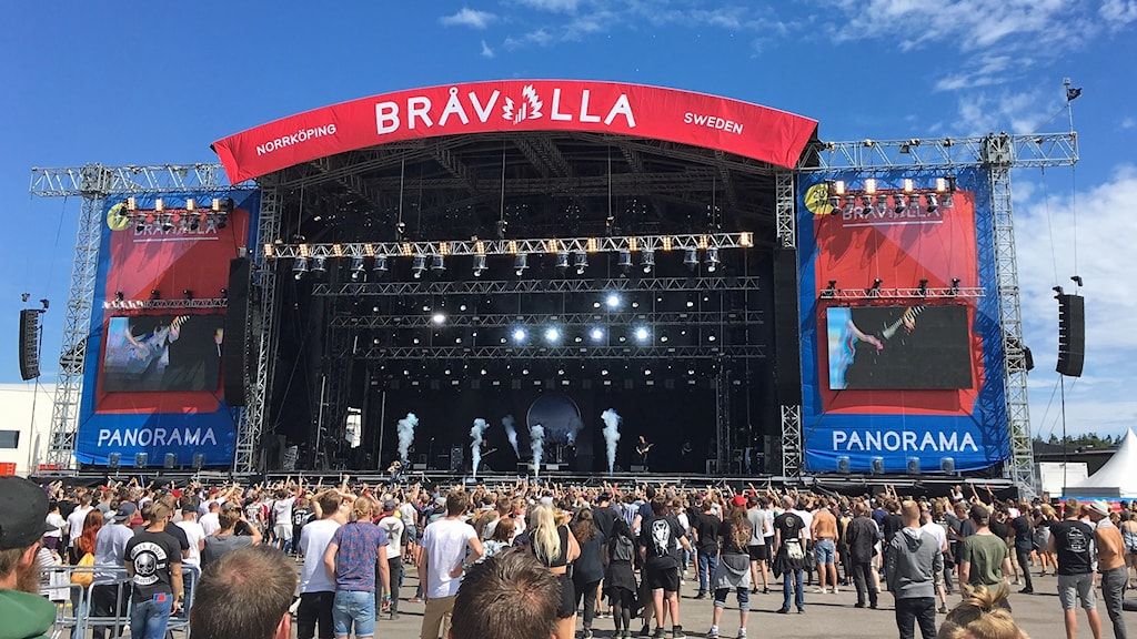 Panoramascenen på Bråvallafestivalen.