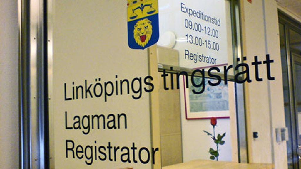 Linköpings tingsrätt. Foto: Jakob Kindesjö/Sveriges Radio