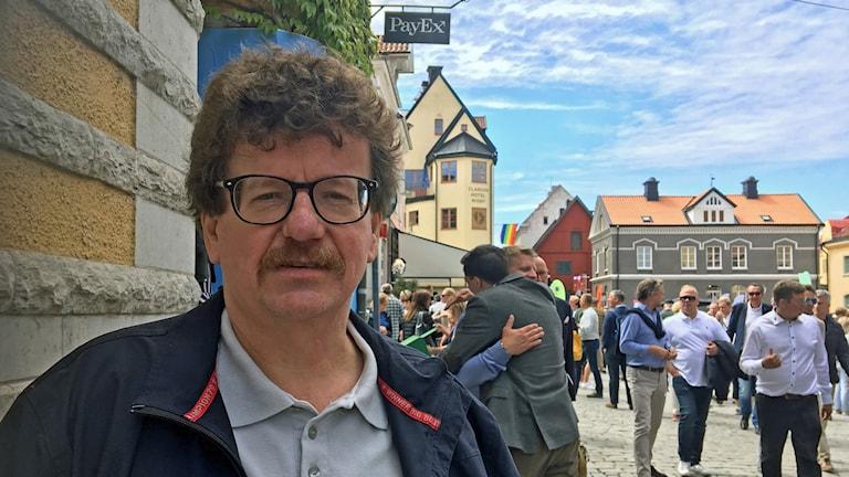 Lars Stjernkvist (S), kommunalråd i Norrköping, på Almedalsveckan i Visby.